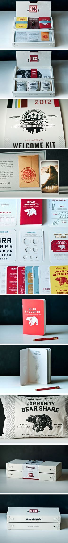 Community Bear Share Welcome Kit by Ultra Creative - I nicely packaged kit with cool animal graphics.