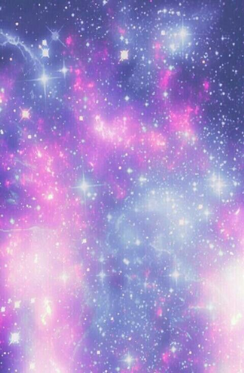 blue and pink galaxy print probably iphone wallpaper but