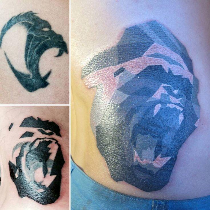 #нефть #tattoo #coverup #art #design #gorilla #kong #moscow #azart #alexeyazarov