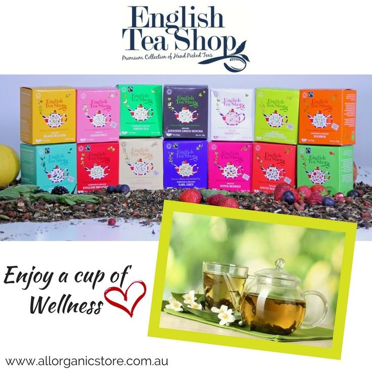 Is it time for a cup of tea? English Tea Shop teas have a large range of organic tea bags, loose tea and tea gift sets. 🍵 ❤️