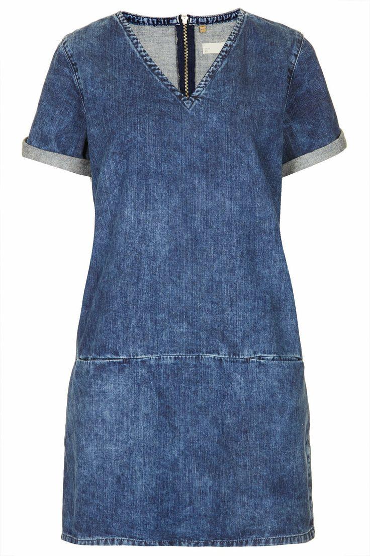 MOTO V Neck Pocket Tee Dress - Dresses - Clothing - Topshop