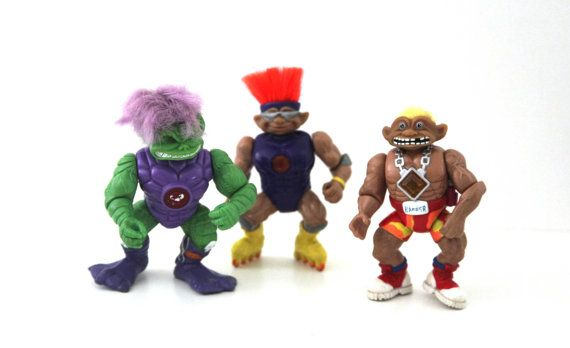 Vintage 90s Battle Troll stone protectors lot by 216vintageModern