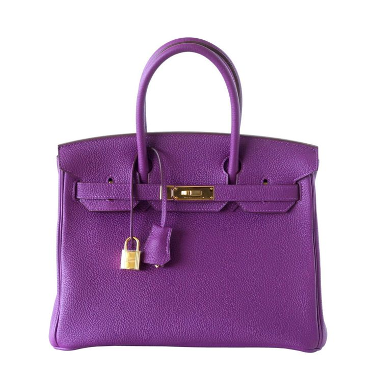 Guaranteed authentic HERMES 30 Birkin in luxurious ANEMONE. Togo leather with gold hardware. This exquisite pre owned bag has clean corners, body, handles and interior. Brand new strap gold hardware.
