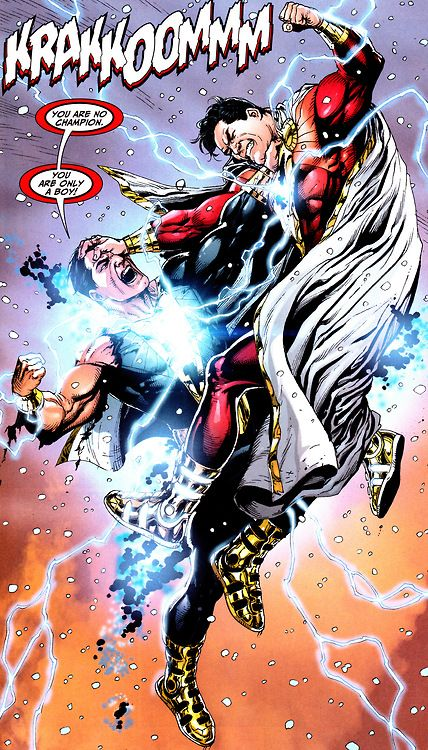 Captain Marvel vs Black Adam by Gary Frank #Shazam | DC ...
