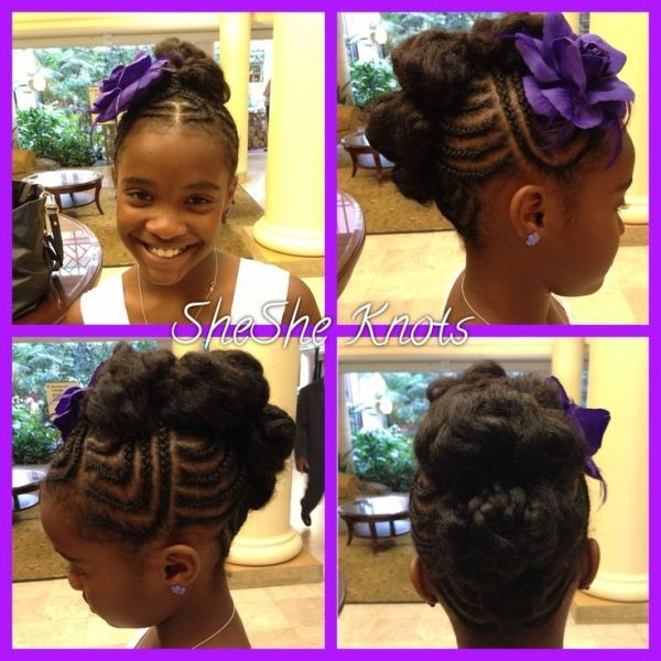 Natural hairstyle for little black girls by 123abc