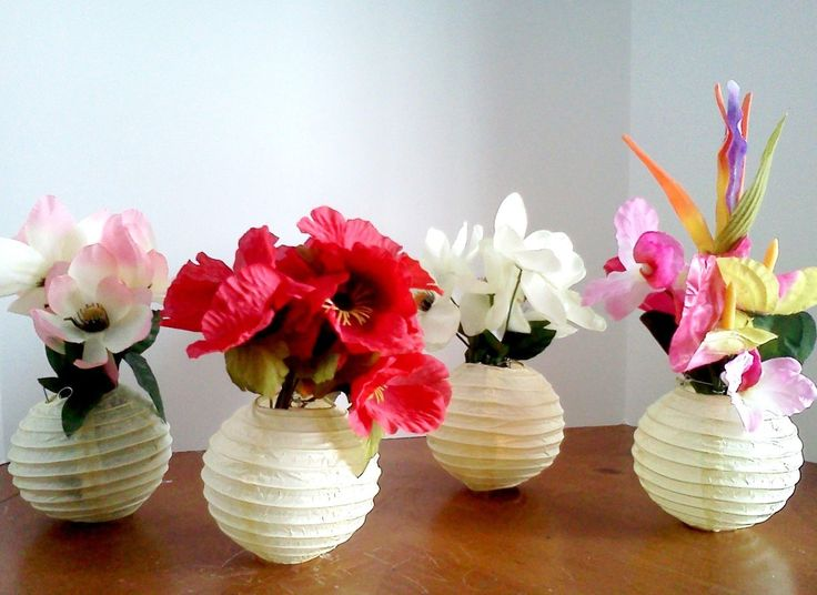 the  best paper lantern centerpieces ideas on   diy, Beautiful flower