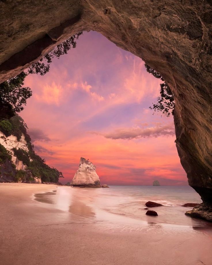 Te Whanganui-A-Hei (Cathedral Cove) Marine Reserve is on the Coromandel Peninsula in New Zealand