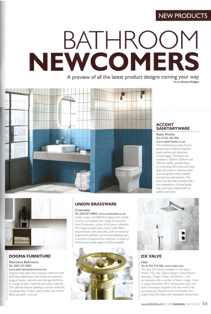 Dogma is the sleek new modular collection from Alternative Bathrooms that boasts an extensive range of basins, cabinetry and storage elements in a range of sizes, materials and colour options. http://www.alternativebathrooms.com/ Essential Kitchen & Bathroom Business March 2018