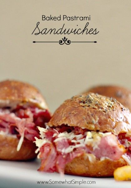 Baked Pastrami Sandwich Recipe - somewhat simple