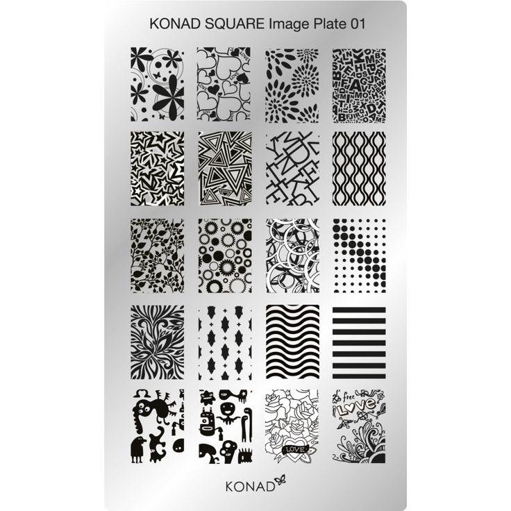 ¿Te gustan los diseños de uña completa? Pues la nueva placa rectangular 1 #konad trae nada menos que 20 diseños!!! ¿Eres capaz de utilizarlos todos?