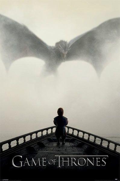 Póster Tyrion Lannister y Dragón. Juego de Tronos Póster basado en la quinta temporada de Juego de Tronos.