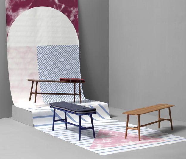 Panca indoor / moderna / in legno - NUDO by Juan Ibáñez - SANCAL
