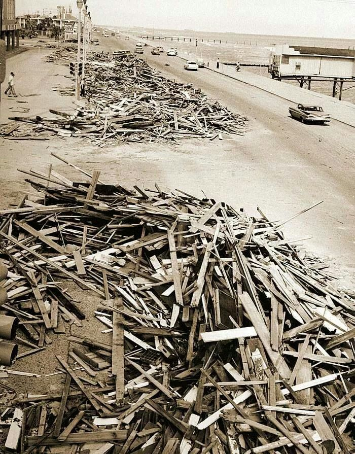 This is murdocks destroyed by Hurricane Carla 1961
