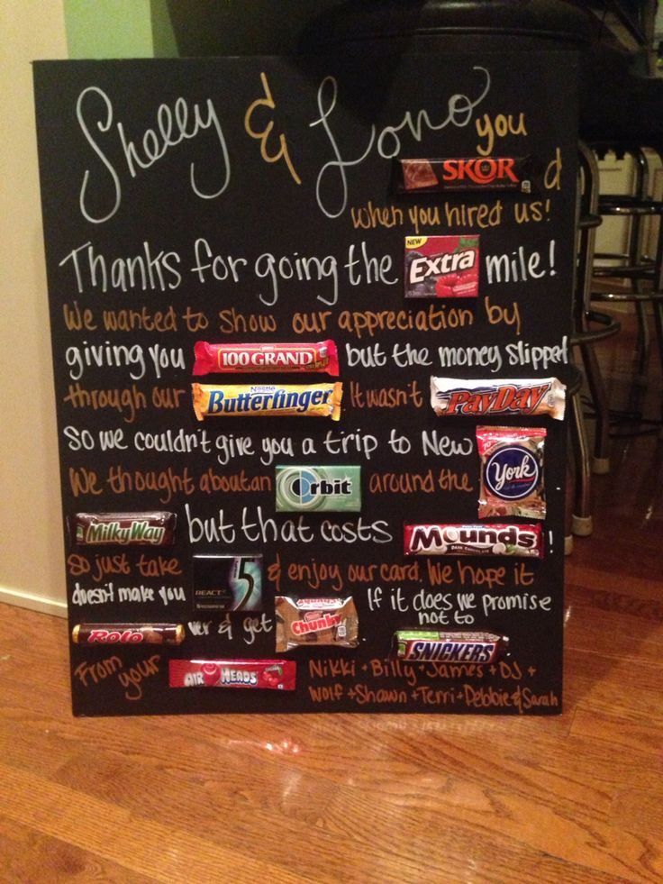 17+ images about Boss's Day on Pinterest | Candy bar ...