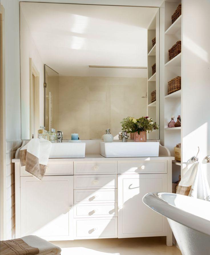 M s de 1000 ideas sobre lavamanos con mueble en pinterest lavabos para ba o mueble tocador y - Banos con dos lavabos ...