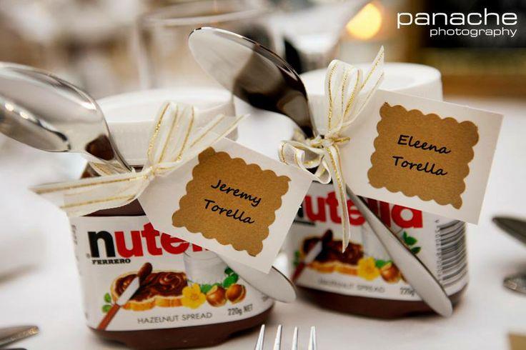 Wedding Bomboniere Gifts: Nutella Bombonaire