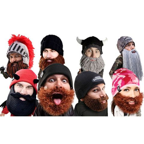 Smash gender norms with these Beard Head Beanies that keep your whole face warm during winter. Choose from a variety of different styles of beards and beanie themes, and rest easy knowing you can even put a beard on your baby!