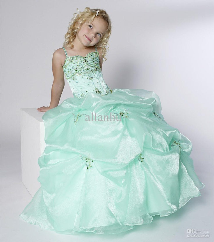 Wholesale 2013 Pretty Dresses Applique Beaded Crystals Ruffles Flower Girl Dresses PT 13234, Free shipping, $94.83-109.74/Piece | DHgate
