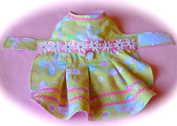 Dog dress size XSbutterflies flowers and par creationsanneclaude