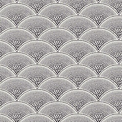 Voorbeeld Pointillisme.  The PatternBase, Japanese inspired stippled scallop pattern
