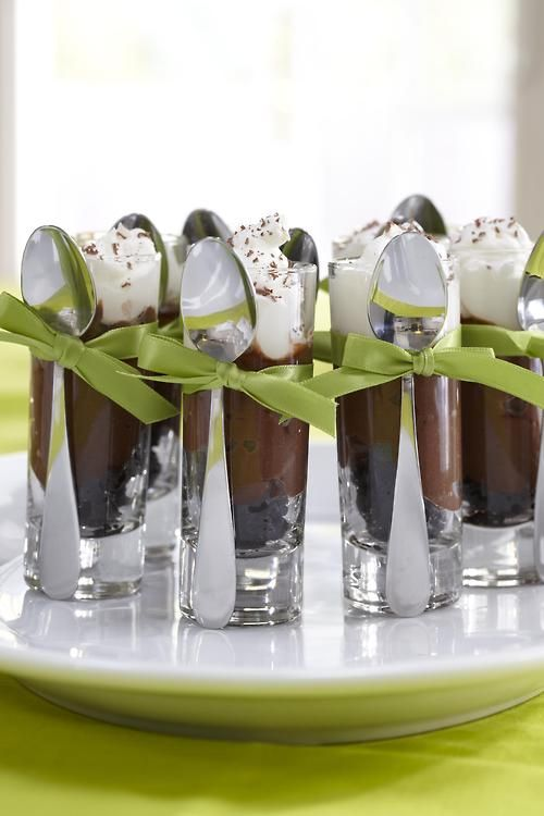 Do this with chocalate moose for informal gathering