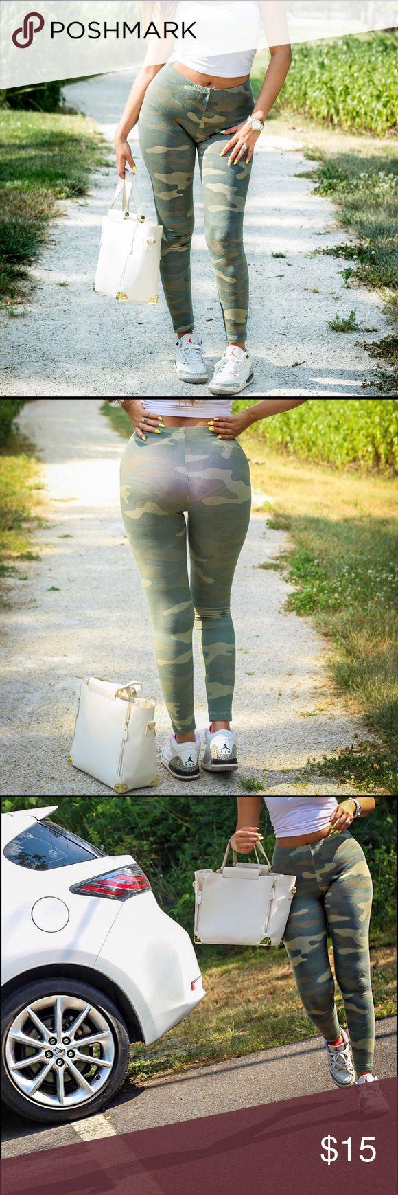 Camo printed leggings Camo printed leggings for those casual days ❤️ Pants Leggings