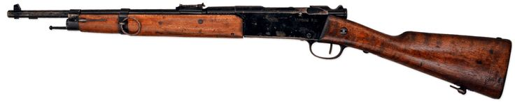 The Lebel Mle. 1886 M93 R35,    Even up to the 1930's the French Army had vast stores of Lebel rifles, an aging bolt action firearm which originated in 1886.  However the French did not merely want to sell or scrap the rifle, but put them to some use.  A common policy of the French Army in the 20th century was to hold on to weapons no matter how old or obsolete they were.