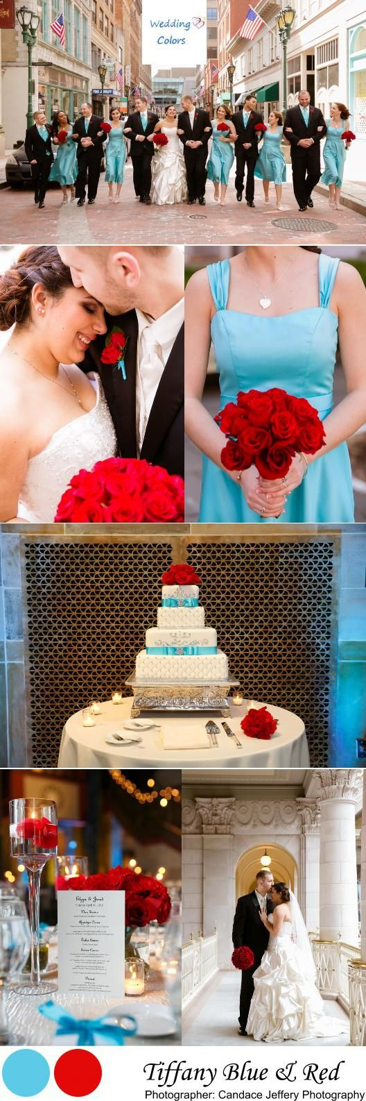 Tiffany Blue & Red Elegant Spring Wedding|  Photographer:  Candace Jeffery Photography
