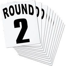 BOXING RING ROUND CARDS