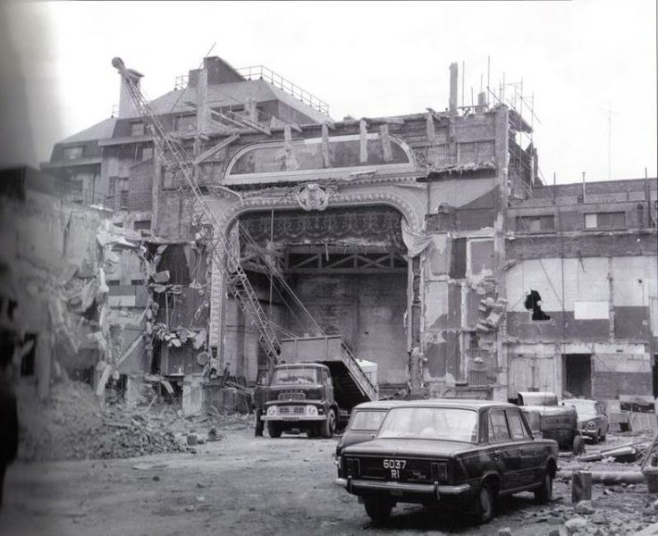 The Capitol Cinema being demolished 1973