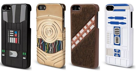 check out these Star Wars cases for the iPhone 4/4s and 5. The series of iPhone cases includes styles modeled after Darth Vader, R2-D2, C3P0, and Chewbacca. Pair each phone case with an appropriate set of ringtones and notification sounds for the full effect. While all of the cases look awesome, the Chewy one stands out because it's actually furry.