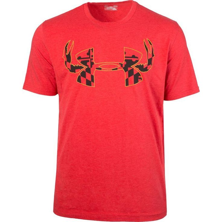 Under Armour Men's Baltiflage Crab Graphic T-Shirt, Size: Medium, Red