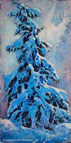 David Langevin, 'Orage', 6'' x 12'' | Galerie d'art - Au P'tit Bonheur - Art Gallery