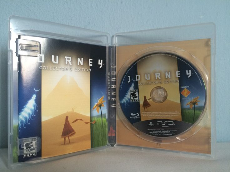 Journey Collector's Edition game opened.