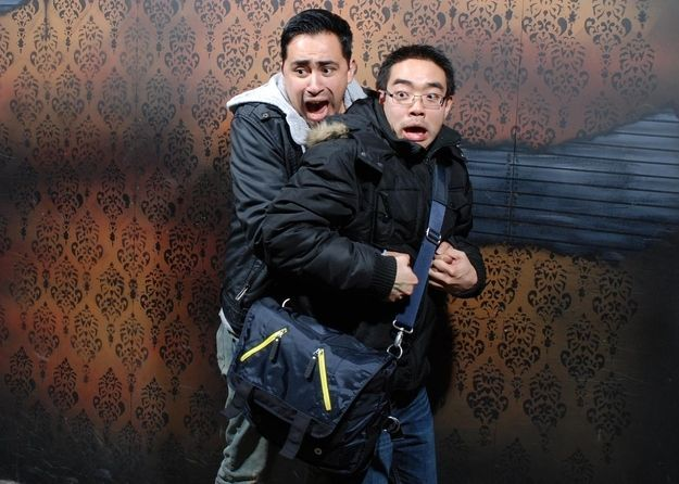 this is great... The 45 Best Pictures Of Scared Bros At A Haunted Hause Of 2012