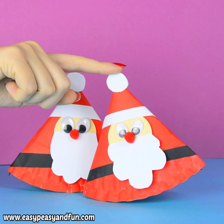 Rocking Paper Plate Santa Craft for Kids