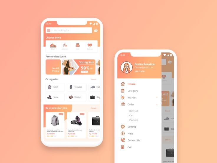 Fashion E-commerce for mobile apps