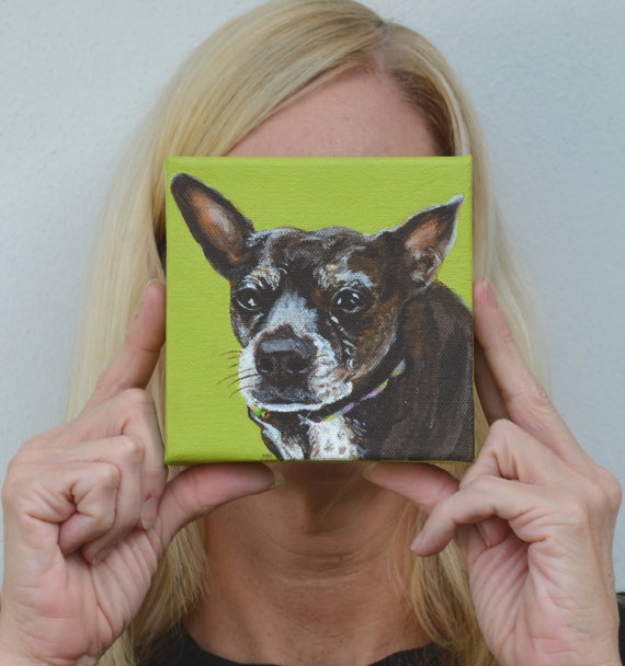 Cute French Bulldog Dog Portrait Custom let me make one for you by PopArtPetPortraits on Etsy, $60.00