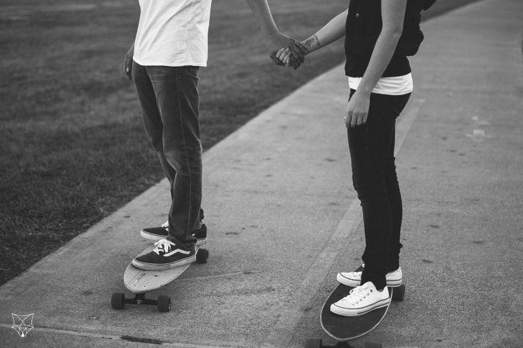 Amy + Ron | Romantic skate park engagement session | White Fox Studios