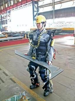 Robotic suit gives shipyard workers super strength