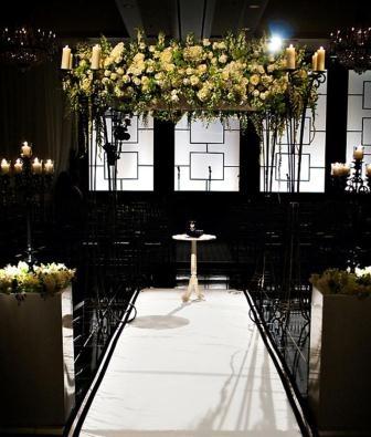 White and Black #Modern #Jewish #Wedding #Chuppah: Ceremony Decor, Black And White, White Chuppah, Evantin Design, Jewish Wedding, The Four Seasons, Chuppah Design, Seasons Philadelphia, Design Blog