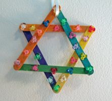 Star of David with popsicle sticks
