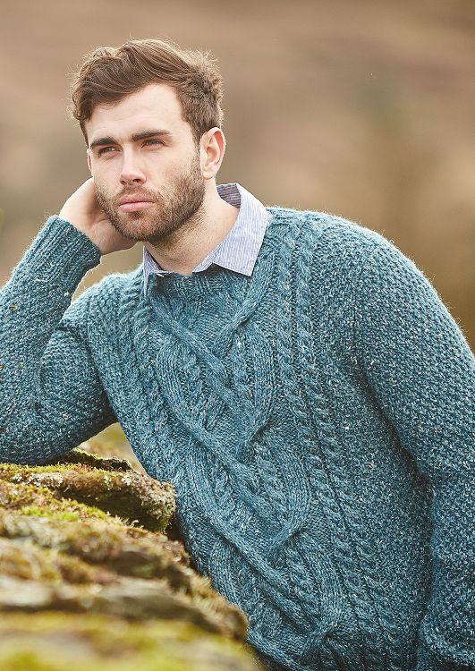 Cole Sweater in Rowan Hemp Tweed Chunky - Free Pattern