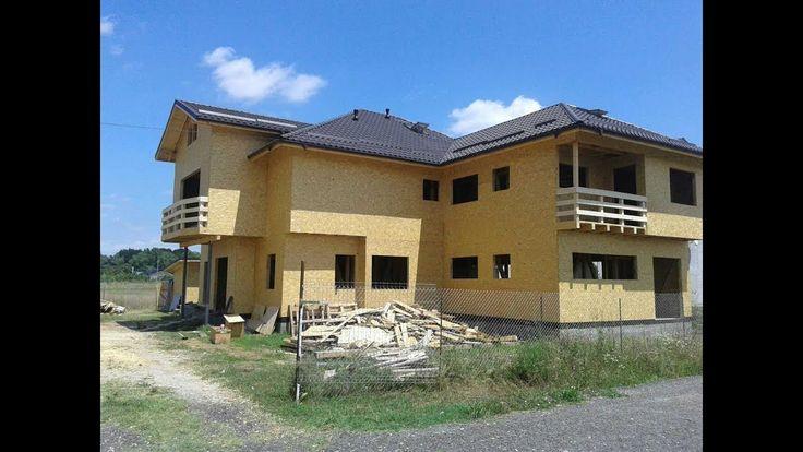 Constructii case din lemn si osb, la rosu -  constructia casei de la Pan...