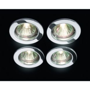Wickes Fixed Downlight Chrome 4 Pack £14.99