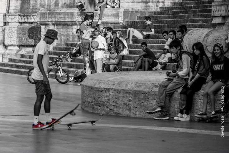 Skaters a piazza cavour - davide rossi fotografia