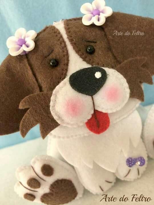 17 Melhores Imagens Sobre Cachorrinhos Em Feltro No