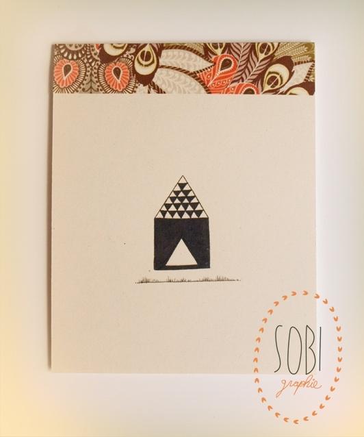 petit carnet illustré : maison triangle