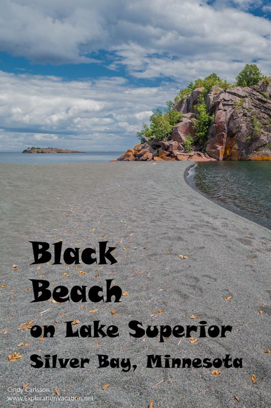 Black Beach on Lake Superior's North Shore in Minnesota is the perfect  place to play in the water and enjoy a picnic lunch. Explore more at  https://explorationvacation.net/2015/11/first-visit-to-black-beach-sliver-bay/
