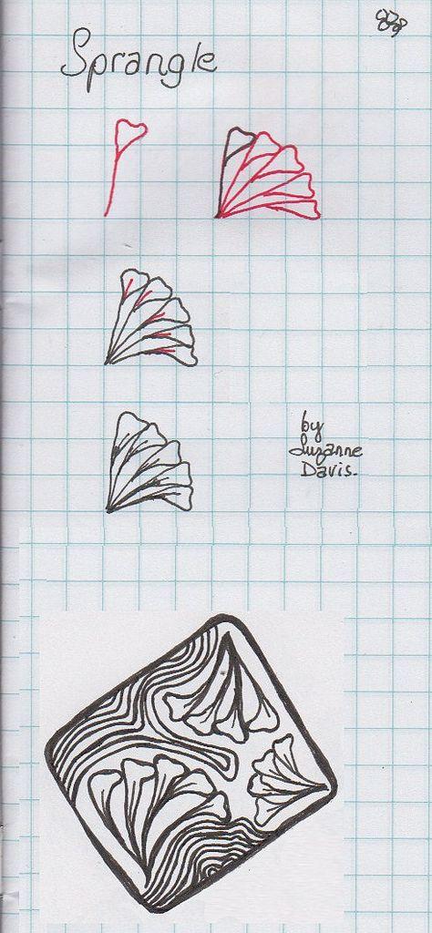 Sprangle. Tangle Pattern by Suzanne Davis / sheridanwild.